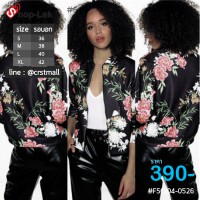 Fashion sweater Black Jacket Ladies Jacket with Sleeve  No.F5Cs04-0522