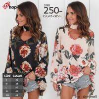 Women's Long Sleeve Shirt Seafoam fabric strap with 5 size 2 colors No.F5Cs01-0856 Black / Cream