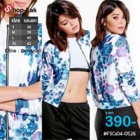 Fashion sweater Women's Black Jacket Sleeve Shirt No.F5Cs04-0526
