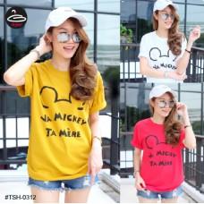 """Korean Fashion Women's short sleeve shirt  """" VA MICKEY """"   3 Colors No.F1Cs50-1471"""