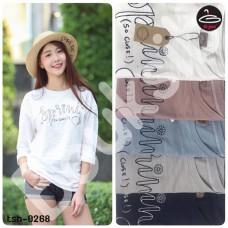 "Women's Fashion   Women's Long Sleeve T-Shirt  Embroidery  "" Spring ""  5 colors No.tsh-0268"