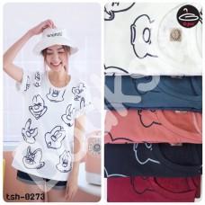 "Women's short sleeve   shirt Short Sleeve T-shirt  screen "" Cartoon  ""   No. 5 No.tsh-0273"