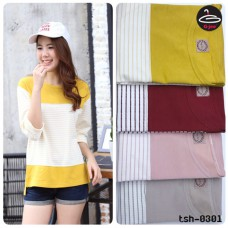 T-shirt pretty Korean fashion. Long sleeve shirt Available in 4 colors No.F1Cs50-1417