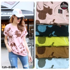 "T-shirt pretty women fashion. Short Sleeve T-shirt "" Mickey Mouse ""freesize with 5 colors No.F1Cs50-1443"
