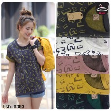 "T-shirt pretty women fashion.T-Shirt Short Sleeve "" Mickey Mouse""   Freesize   5 Colors No.F1Cs50-1426"