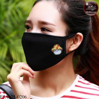 Black fabric Korean black fabric fashion. Black Nose Mushroom cover Soft texture with soft filter inside. No.F5Ac25-0206