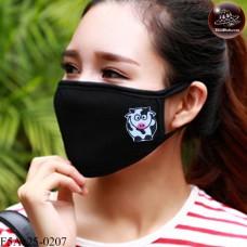 Black fabric Korean black fabric fashion. Black Nose Black gag Soft texture with soft filter inside. No.F5Ac25-0207