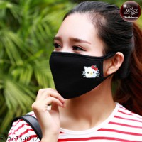 Black fabric Korean black fabric fashion. Black Nose Kitty black glove Soft texture with soft filter inside. No.F5Ac25-0212