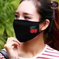 Black fabric Korean black fabric fashion. Black Nose Black glaze pattern cherry Soft texture with soft filter inside. No.F5Ac25-0213