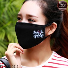 Black fabric Korean black fabric fashion. Black Nose Black glove with skull pattern, bow tie Soft texture with soft filter inside. No.F5Ac25-0215