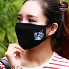 Black fabric Korean black fabric fashion. Black Nose Cute black glove pattern cute cat brother. Soft texture with soft filter inside. No.F5Ac25-0217