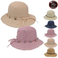 Floppy hat with ribbon, RICH Wide Weave Hat 5 Colors No.F5Ah18-0065