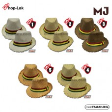 MJ hat with brown ribbon All products are in 5 colors No.F1Ah12-0004