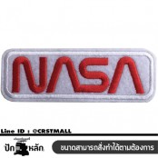 อาร์มปักลาย ป้าย NASA สี่เหลี่ยม/Size 10x3cm ติดเสื้อติดหมวก ติดสินค้าแฟชั่น งาน DIY เสื้อผ้า งานปักระเอียด No.P7Aa52-0431