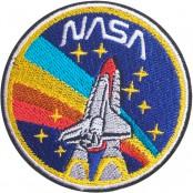 อาร์มปักลาย NASA จรวด วงกลม /Size 7*7cm ติดเสื้อติดหมวก ติดสินค้าแฟชั่น งาน DIY เสื้อผ้า งานปักระเอียด No.P7Aa52-0433