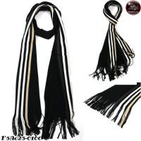 Scarf Scarf Striped Scarf Scarf Yarn 4 Side Black No.F5Ac25-0100