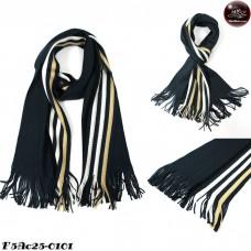Scarf Scarf Striped Scarf Scarf Yarn 4 Side Dark gray No.F5Ac25-0101