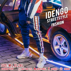 Long pants Cool sportswear pattern on the side of the street. Cool and comfortable. Good to wear. Who wears cool. No. F5Cp06-0371