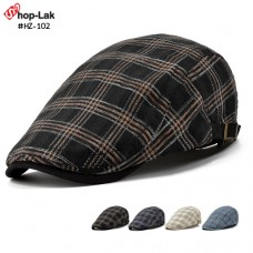 Vintage hat, Scottish style hat, Scottish side, adjustable belt, 4 colors.  Model HZ-102  Scotch knitted hat