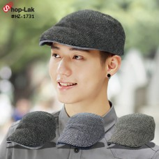 Vintage Cap Hat, Ding Dong Cloth Hat knitting Side button is adjustable in 2 colors with 3 colors HZ-1731.  Hat knitting
