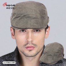 Gray hat, corduroy, full leaf, corduroy fabric, soft and comfortable. No.F5Ah11-0075