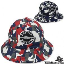 Hat bucket hat bucket hat military bucket destroy monster hat
