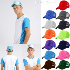 Sponge cap on the back, mesh on the back is a SNAP BACK. Side can be found in 13 colors.