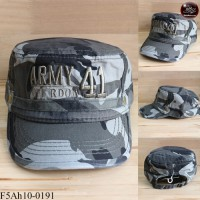 JAPAN military style hat embroidered ARMY41 camouflage cap. The back is adjustable seat belt No.F5Ah10-0191.
