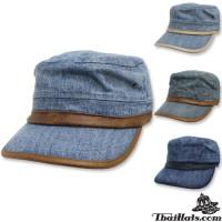 Denim Jeans with Leather Edge, JAPAN Denim Jeans Adjustable side # 4298