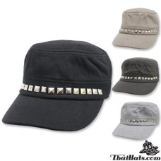 Short sleeve cap with silver pins in front JAPAN cap with back pins can be adjusted No.2515