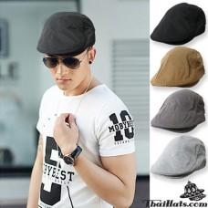 Hinglish hat, black hat, black hat, vintage hat, flat cap, flat cap fashion model H183, side belt Adjustable side. There are 4 colors.