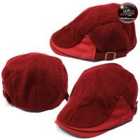 Hats, tweed, corduroy, red, red, hat, red H100 red cap, flat cap, red hat, vintage hat, corduroy cap