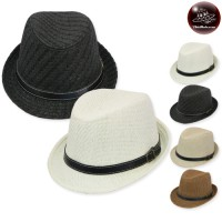 MJ hat with a banded belt. Michael's hat weave Leather belt No.13838