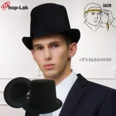 High-heeled black hat top hat  No.F5Ah33-0019