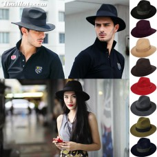 Panama wide hats, Panama hats, flannel hats 100% cotton felt around the head 56-59 cm.