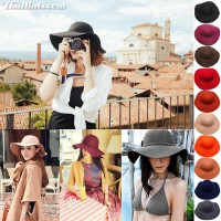 Floppy Hat Floppy Hat Felt 100% foldable in the pocket. There are 10 colors.