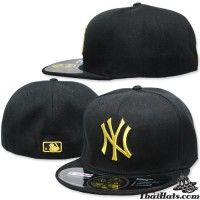 HIPHOP Hat Full Leaf HIPHOP NY Hat Black Gold Embroidery Product All 3 SIZE No.F1Ah47-0359