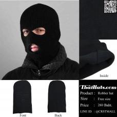 Long black velvet cap, black velvet cap, soft lining, warmth