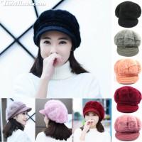 Pumpkin hat, rabbit hair, woolly face Pumpkin hat woolen rabbit hat Rabbit Pumpkin Hat with Rabbit No.001