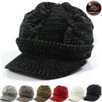 High-Heeled Knitting Hat with Ribbon Cap hat Pumpkin Shape Freesize No.004