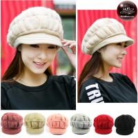 Pumpkin Hat, Knitting Yarn, Soft Feather Hat, Pumpkin Hat, Knitting Hat with Soft Feather Hat Hat thick knit fabric No.007