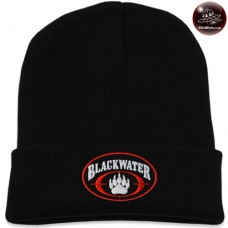 Black blackwater knit cap