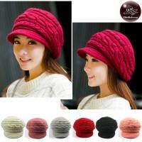 Pumpkin Hat Knitting Yarn Pumpkin knit fine Wool knitted hat Knitted hat with thick knit wings No.008