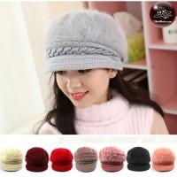 Pumpkin hat, rabbit hair, woolly face Pumpkin hat woolen rabbit hat Pumpkin Hat, Rabbit Hat No.002