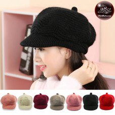 Pumpkin Hat Knitting Yarn Wings Pumpkin Hat Wool Knitting Hat Knitted hat with thick knit wings No.003