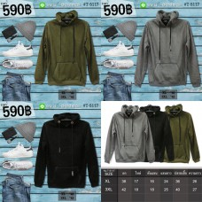 Hooded Hood Hooded Jacket Men's Long Sleeve Hooded Jacket in 3 sizes, 2 colors, Size No.5117