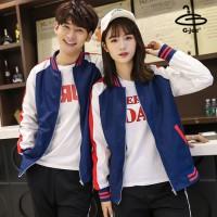 Baseball Jacket, Blue Umbrella, White Arm Black band on sleeve size 6 No.F5Cs04-0320
