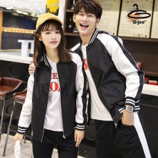 Baseball Jacket, Black Umbrella, White Arm Black band on sleeves with 6 size No.F5Cs04-0314