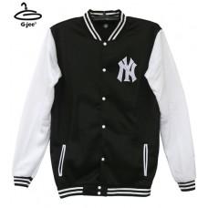 Baseball Jacket Baseball Jacket Baseball Jacket Black NY White Sleeve Size 9