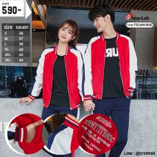 Baseball Jacket, Red Umbrella, White Arm The blue band on the sleeve has 6 size No.F5Cs04-0542